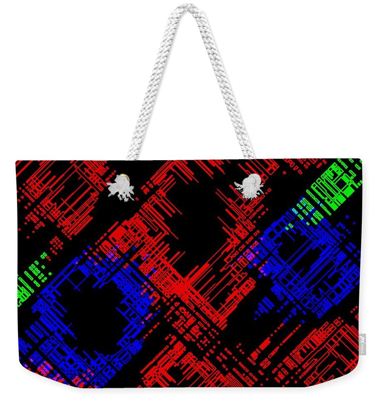 Methodical Weekender Tote Bag featuring the digital art Methodical by Will Borden