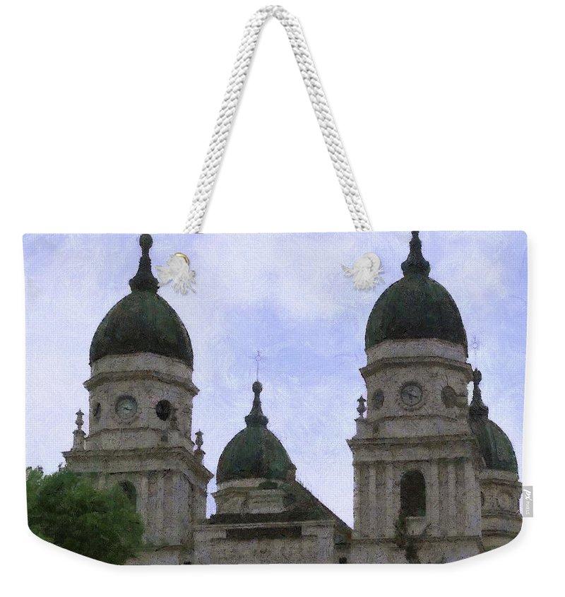 Chapel Weekender Tote Bag featuring the painting Metropolitan Cathedral by Jeffrey Kolker