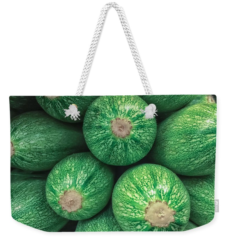 Abstract Weekender Tote Bag featuring the photograph Mexican Gray Squash by Jonathan Nguyen