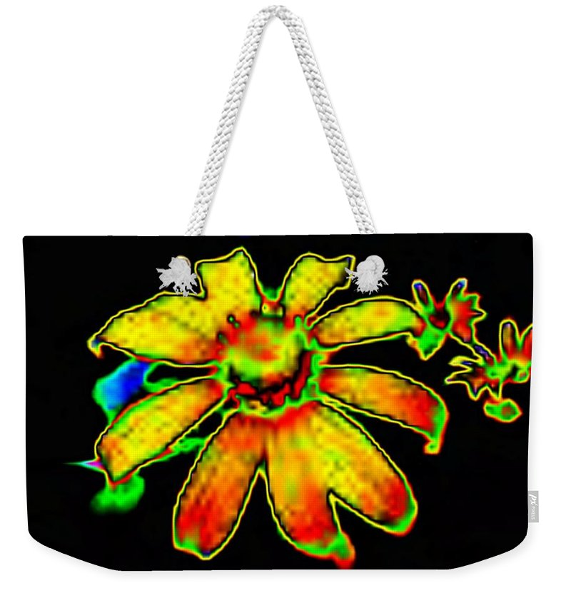 Sunflower Weekender Tote Bag featuring the photograph Mexican Sunflower by Tim Allen