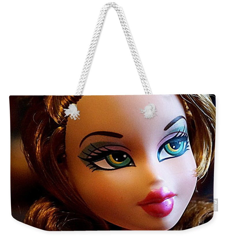 Doll Weekender Tote Bag featuring the photograph Meygan by Georgia's Art Brush