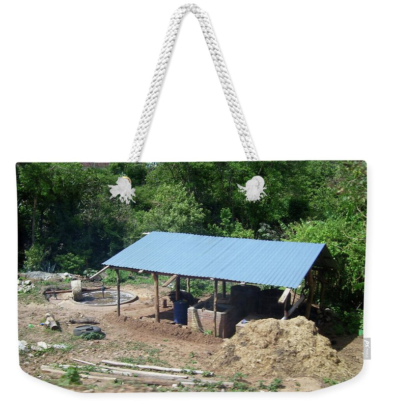 Mezcal Weekender Tote Bag featuring the photograph Mezcal Processor by Michael Peychich