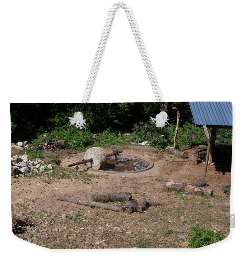 Mezcal Weekender Tote Bag featuring the photograph Mezcal Production by Michael Peychich