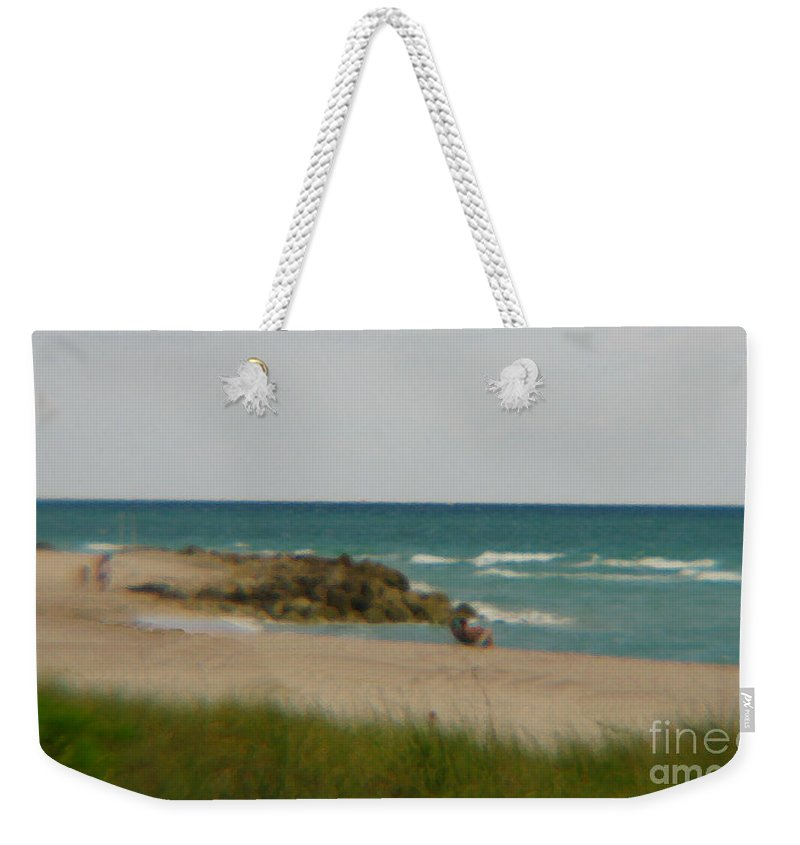 Miami Weekender Tote Bag featuring the photograph Miami by Amanda Barcon