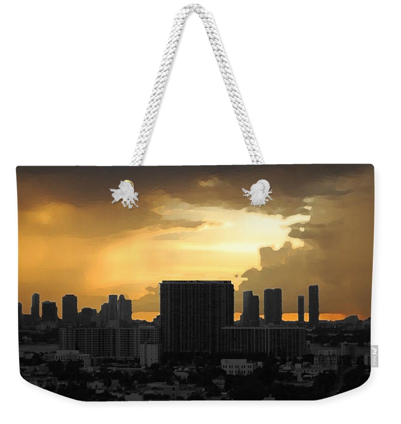 Landscape Weekender Tote Bag featuring the photograph Miami by Joseph Mari