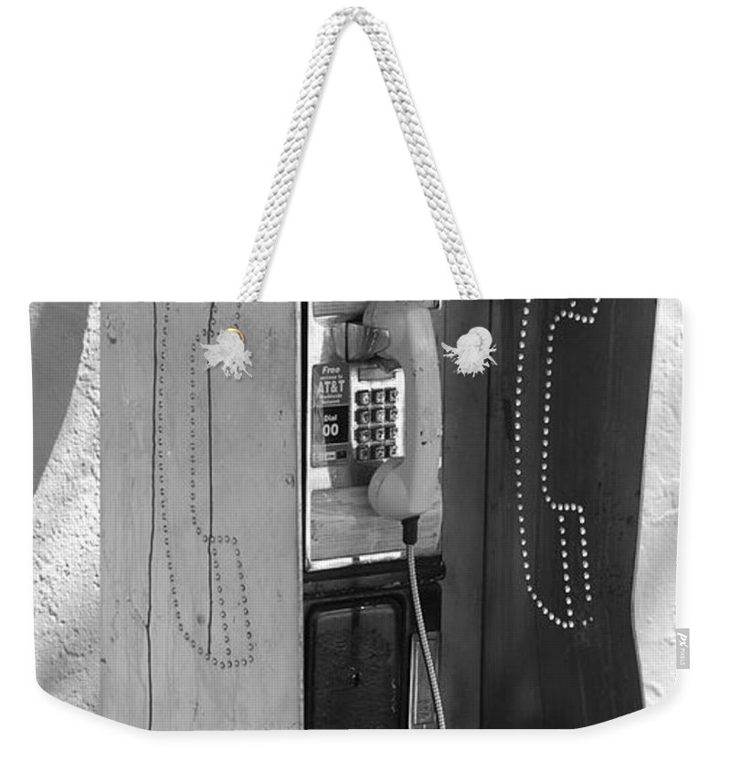 Pop Art Weekender Tote Bag featuring the photograph Miami Pay Phone by Rob Hans