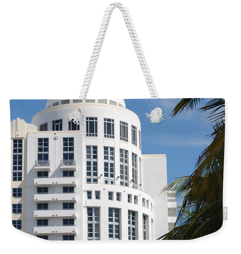 Architecture Weekender Tote Bag featuring the photograph Miami S Capitol Building by Rob Hans