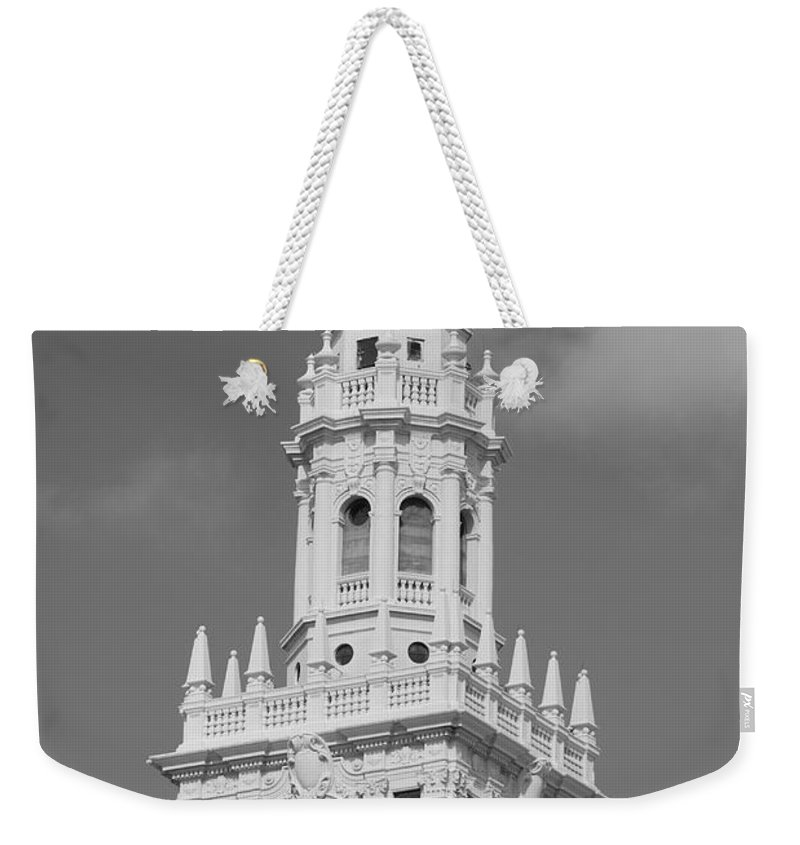 Architecture Weekender Tote Bag featuring the photograph Miami Tower by Rob Hans