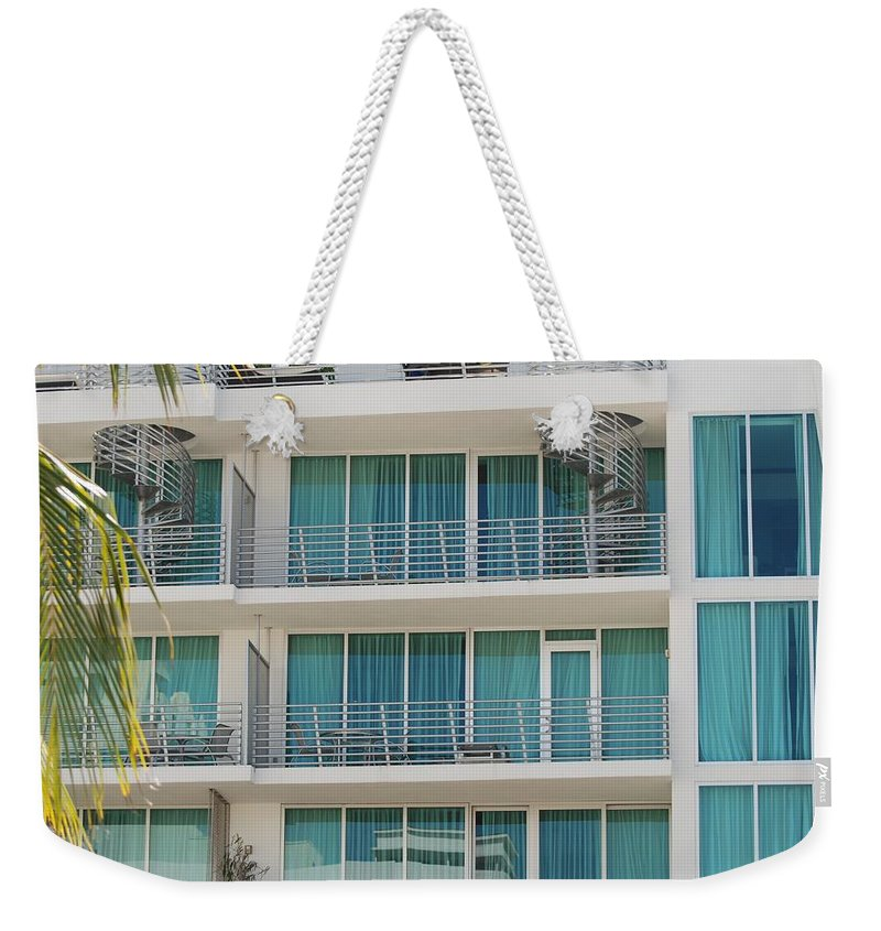 Architecture Weekender Tote Bag featuring the photograph Miami Vice by Rob Hans