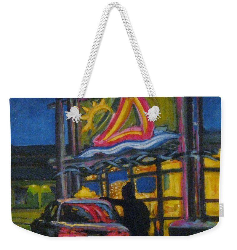 Retail Weekender Tote Bag featuring the painting Mic Mac Mall Spectre Of The Next Great Depression by John Malone
