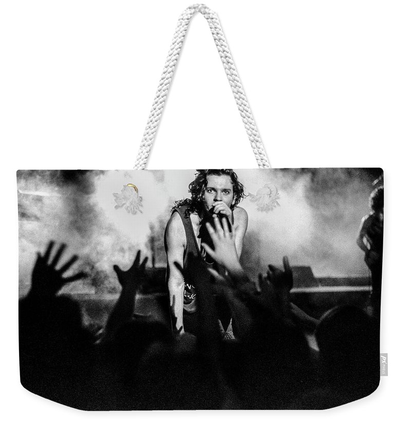 Inxs Weekender Tote Bag featuring the photograph Listen Like Thieves by Sean Davey