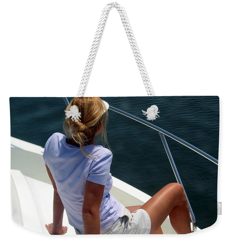 Portrait Weekender Tote Bag featuring the photograph Michele by Julie Niemela