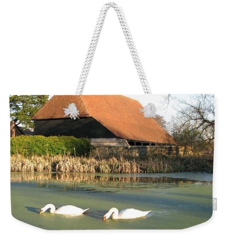 Michelham Priory Weekender Tote Bag featuring the photograph Michelham Priory Barn by Maria Joy