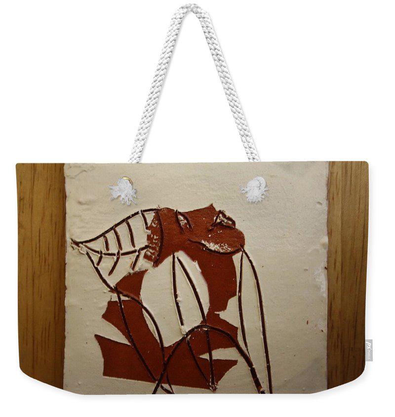 Jesus Weekender Tote Bag featuring the ceramic art Michelle - Tile by Gloria Ssali