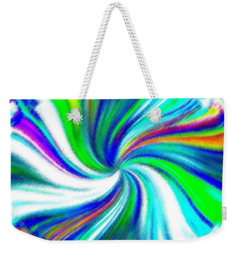 Micro Linear Weekender Tote Bag featuring the digital art Micro Linear 5 by Will Borden