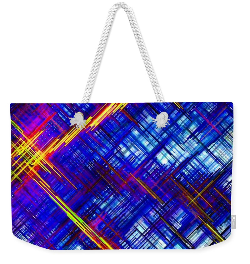 Micro Linear Weekender Tote Bag featuring the digital art Micro Linear 6 by Will Borden