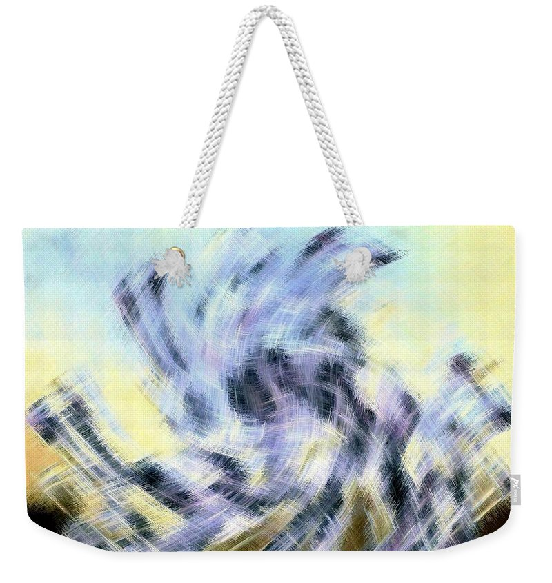 Micro Linear Weekender Tote Bag featuring the digital art Micro Linear 8 by Will Borden