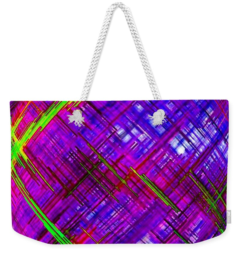 Micro Linear Weekender Tote Bag featuring the digital art Micro Linear 9 by Will Borden