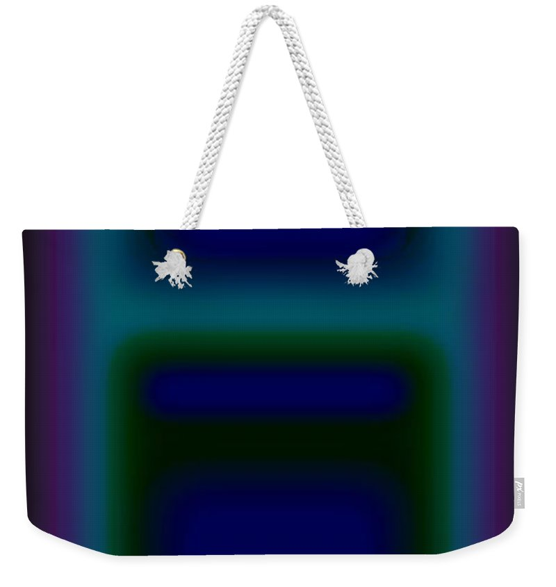 Landscape Weekender Tote Bag featuring the painting Microwave Blue by Charles Stuart