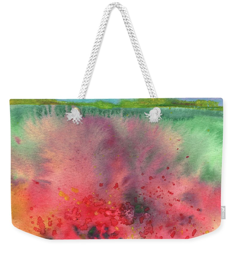 Landscapes Weekender Tote Bag featuring the painting Midday 18 by Miki De Goodaboom