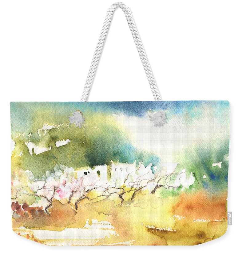 Landscapes Weekender Tote Bag featuring the painting Midday 20 by Miki De Goodaboom