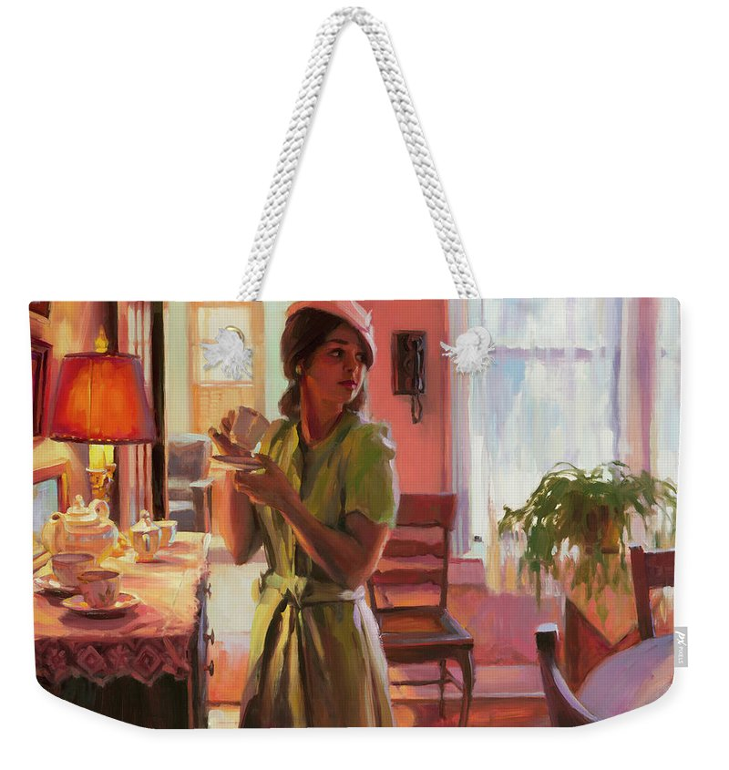 Nostalgia Weekender Tote Bag featuring the painting Midday Tea by Steve Henderson