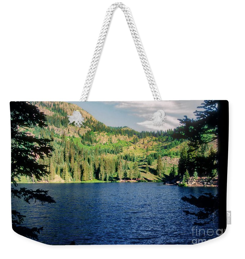 Middle Fork Lake Weekender Tote Bag featuring the photograph Middle Fork Lake by Bob Phillips
