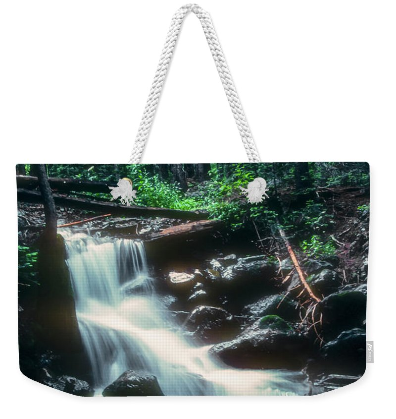 Lost Lake Weekender Tote Bag featuring the photograph Middle Fork Red River Falls by Bob Phillips