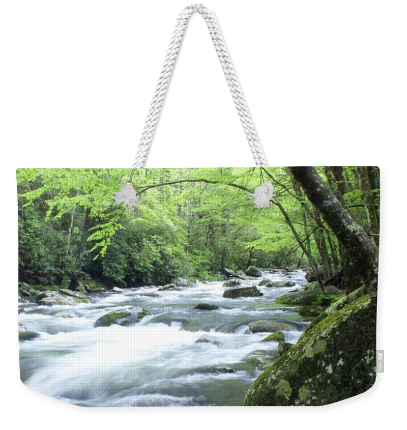 Stream Rive Weekender Tote Bag featuring the photograph Middle Fork River by Marty Koch