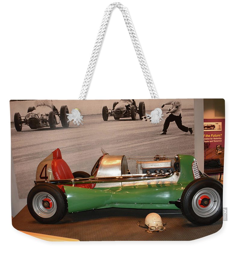 Auto Weekender Tote Bag featuring the photograph Midget At America On Wheels by Mike Martin