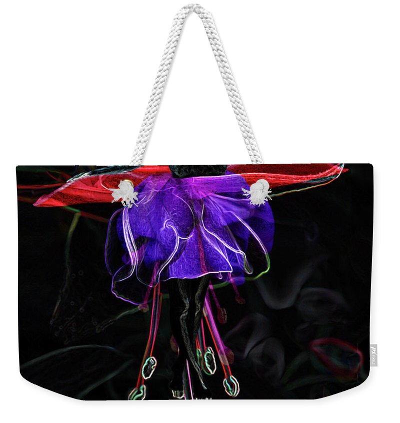 Fleurotica Art Weekender Tote Bag featuring the digital art Midnight Bloom by Torie Tiffany