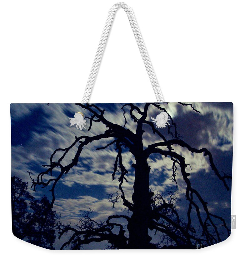 Clouds Weekender Tote Bag featuring the photograph Midnight Blue by Peter Piatt