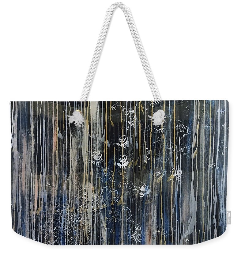Midnight Love Weekender Tote Bag featuring the painting Midnight Love by Cheryle Gannaway