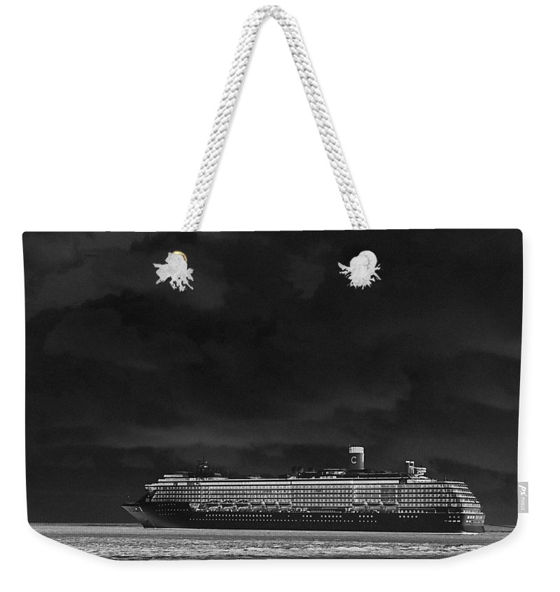 Cruise Weekender Tote Bag featuring the photograph Midnight Magic by Gary Wonning