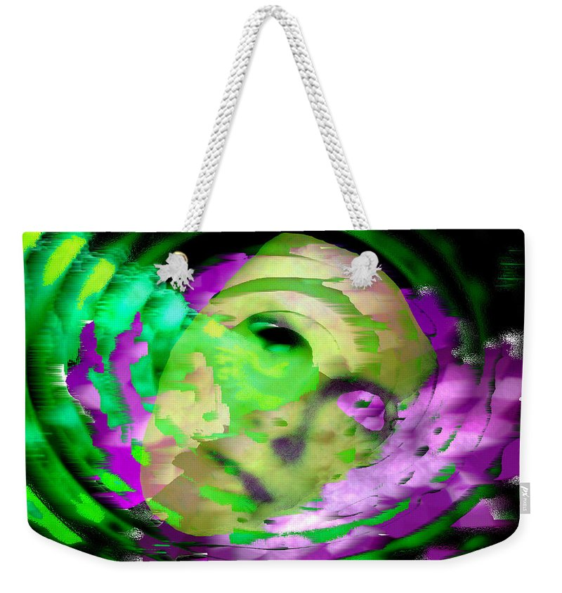 Midnight Weekender Tote Bag featuring the digital art Midnight Mask by Seth Weaver