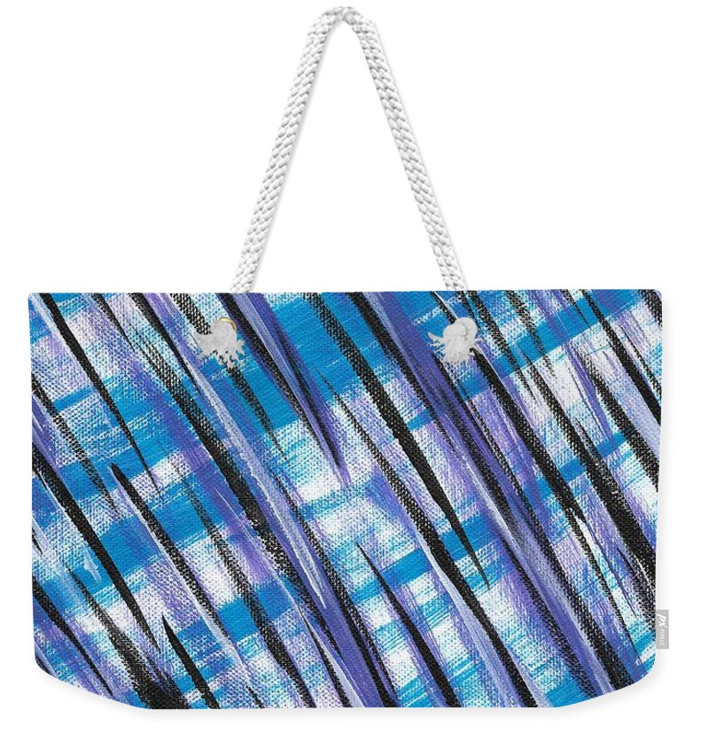 Abstract Weekender Tote Bag featuring the painting Midnight Over Spring by Eric Atherton