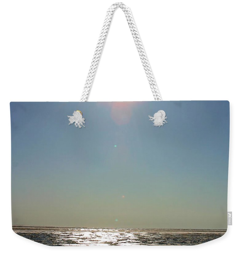 Arctic Weekender Tote Bag featuring the photograph Midnight Sun Over The Arctic by Anthony Jones