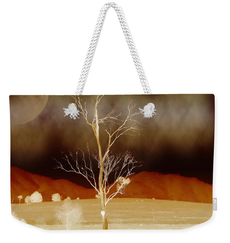 Landscapes Weekender Tote Bag featuring the photograph Midnight Vogue by Holly Kempe
