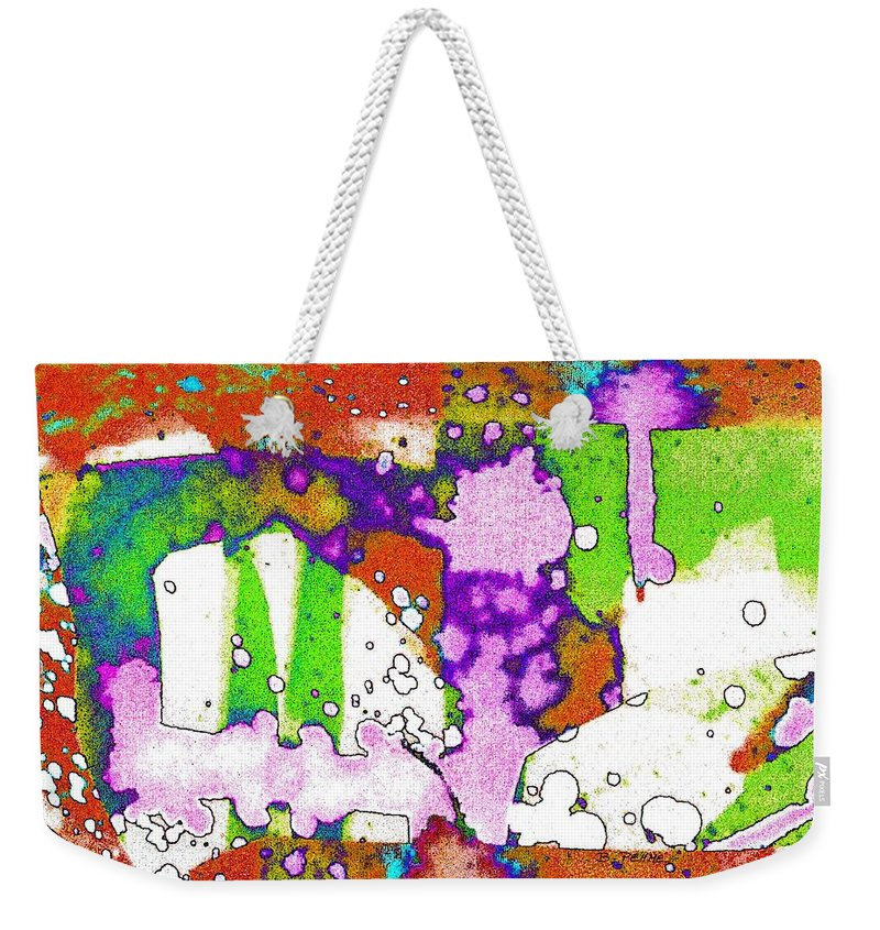 Abstract Midsummer's Eve Canvas Print Weekender Tote Bag featuring the digital art Midsummer Series 2 by Betty Pehme