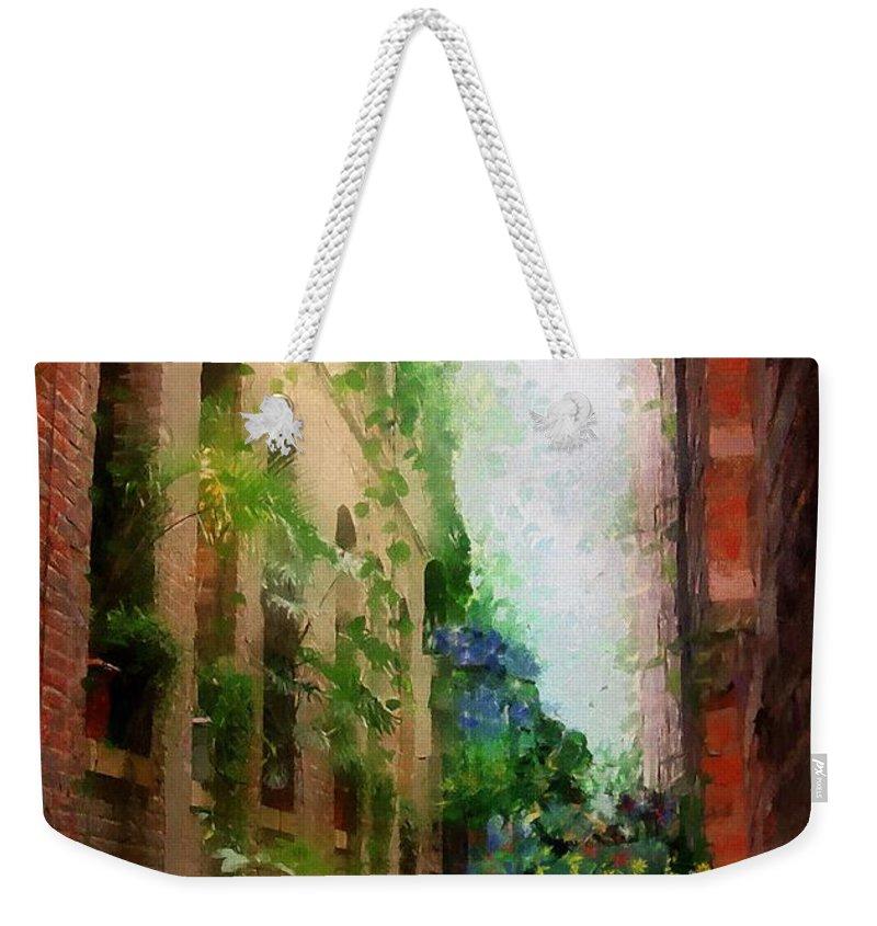 Atrium Weekender Tote Bag featuring the painting Midwest Mediterranean by RC DeWinter