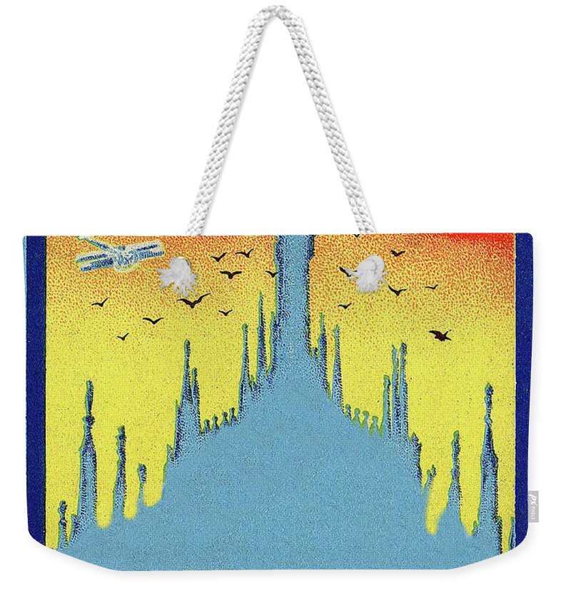 Milan Cathedral Weekender Tote Bag featuring the painting Milan Cathedral, Italy by Long Shot