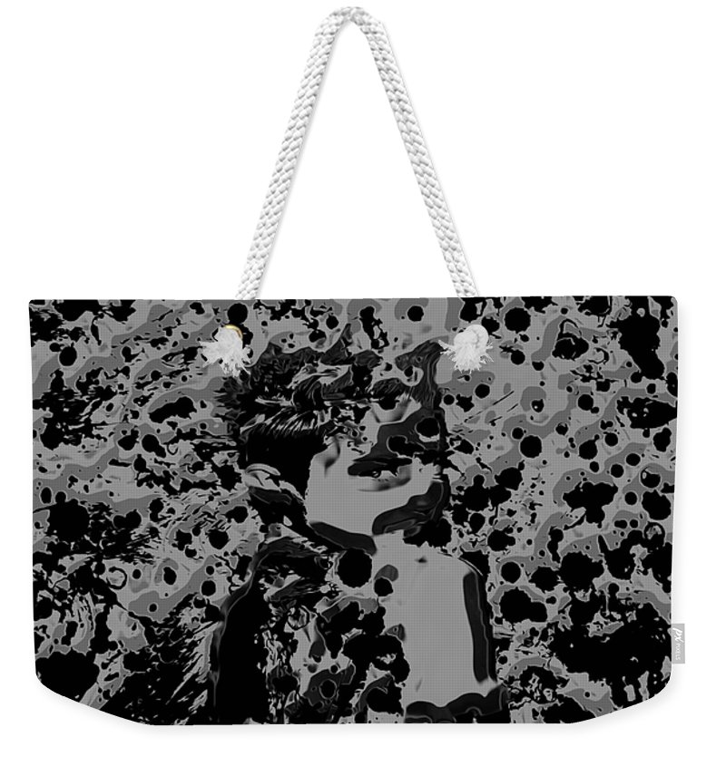 Miley Cyrus Weekender Tote Bag featuring the mixed media Miley Cyrus B7 by Brian Reaves