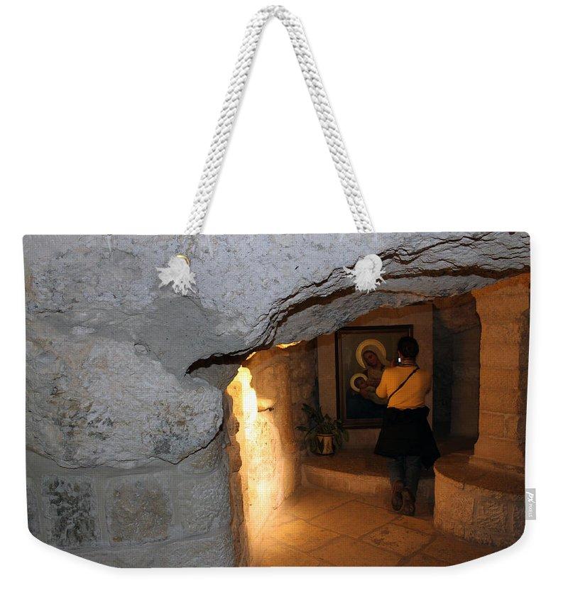 Bethlehem Weekender Tote Bag featuring the photograph Milk Grotto Church by Munir Alawi