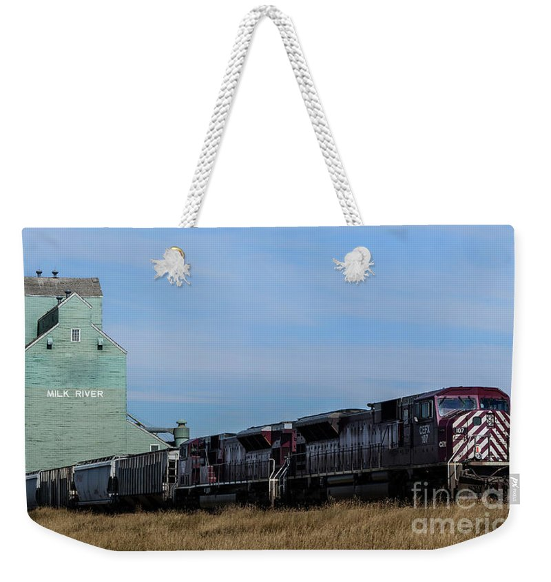 Alberta Weekender Tote Bag featuring the photograph Milk River by Brad Allen Fine Art