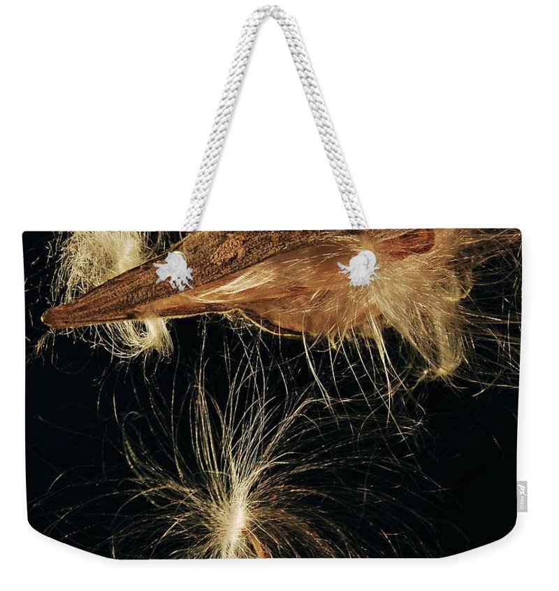 Mgp Photography Weekender Tote Bag featuring the photograph Milkweed Pod by Michael Peychich