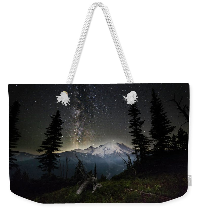 Friday Harbor Washington Weekender Tote Bag featuring the photograph Milky Mountain by Thomas Ashcraft