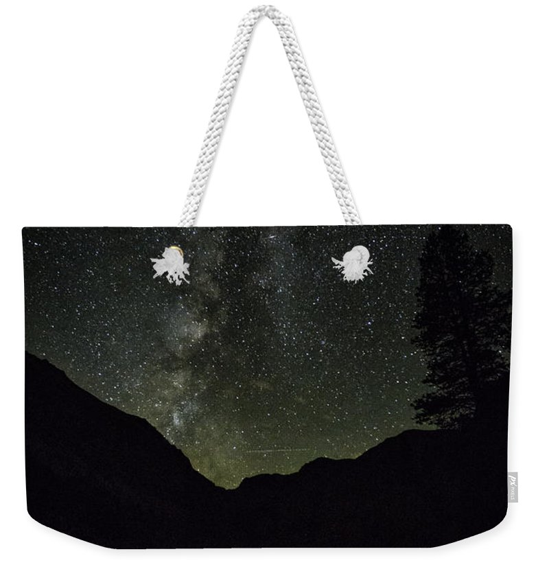 California Weekender Tote Bag featuring the photograph Milky Way Lee Vining Area 2 by Timothy Hacker