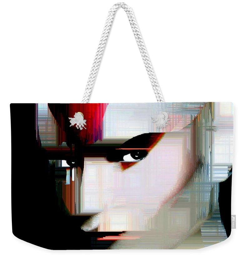 Rafael Salazar Weekender Tote Bag featuring the digital art Millennial Pop Art by Rafael Salazar