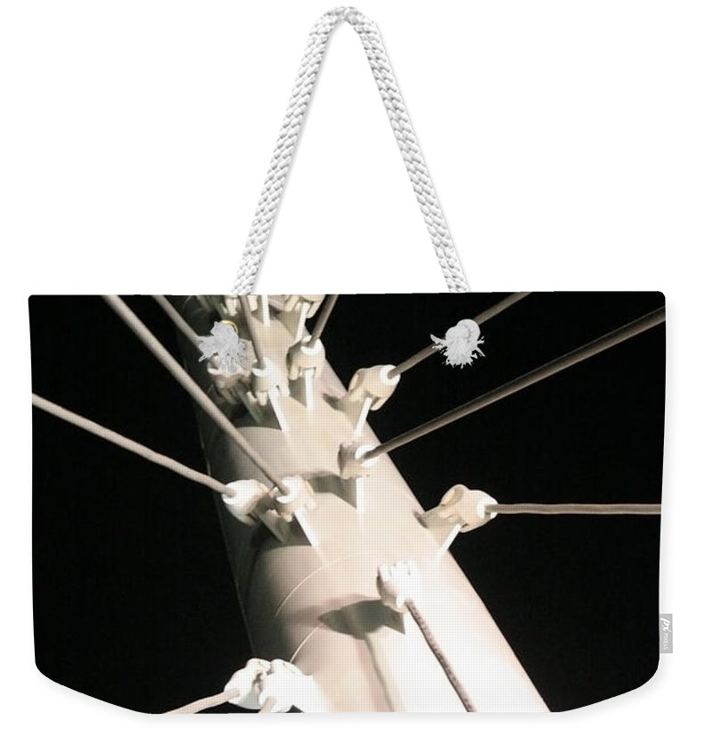 Millennium Weekender Tote Bag featuring the photograph Millennium Bridge by Jeffery Ball