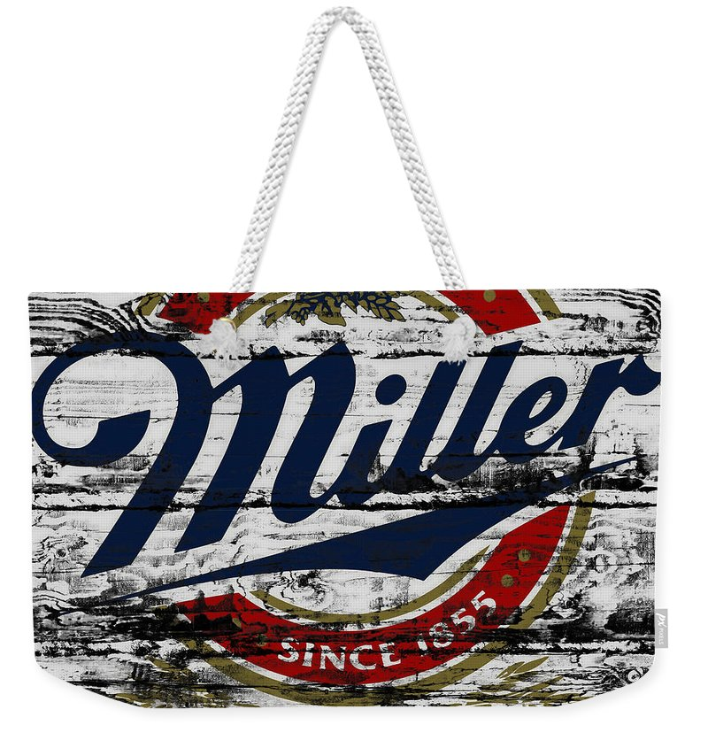Miller Weekender Tote Bag featuring the photograph Miller Beer 5b by Brian Reaves